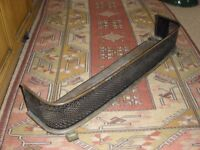 Antique iron and brass fire fender