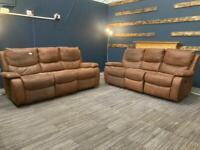 Leather Manual recliner sofa set