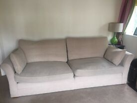 Hopewell's cream coloured large sofa seats 4