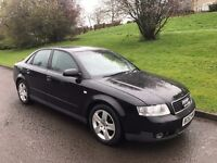 52 AUDI A4 1.9 TDI SPORT, 130bhp, Black, FEB 2018 MOT, Drives Well, Fully Valeted, Drive Away Today