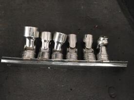 Snap on wobble head sockets snap on tool mechanic