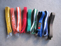 Set of 9 Karate Belts - good used condition- £6