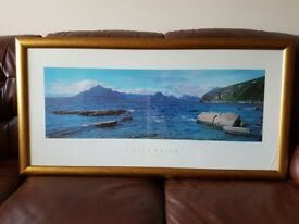 Beautiful Colin Prior Framed Scottish Seascape Print - Excellent Condition