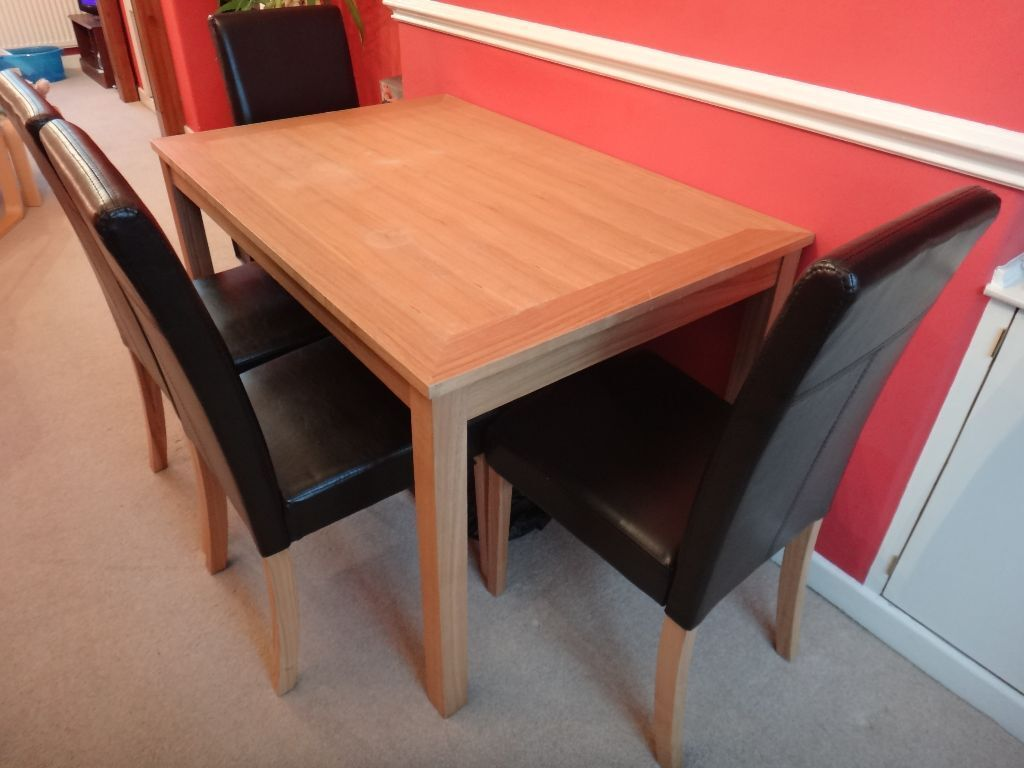 Table and 4 Chairs 16345 in Trafford Manchester Gumtree : 86 from www.gumtree.com size 1024 x 768 jpeg 74kB