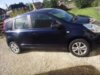 nissan note auto 58 plate 89000 on clock