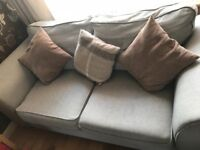 Grey 3seater,2seater and storage stool Smoke/Pet free Home MUST collect very good condition