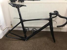 Road bike frame set