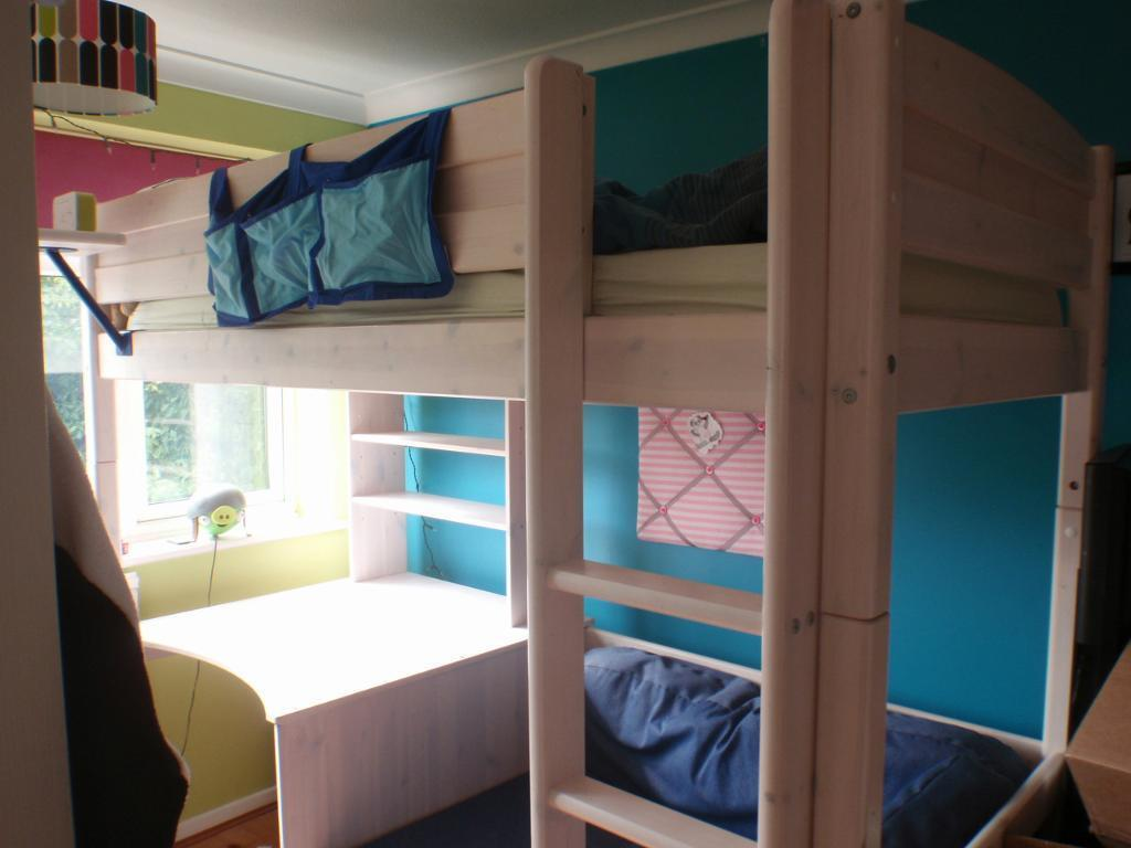 Thukka High Sleeper Bed With Desk And Futon In Abingdon