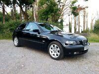 2002 BMW 316 TI SE COMPACT BLACK MANUAL 3 DOOR HATCHBACK - LONG MOT