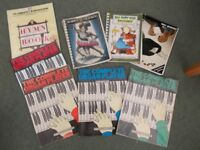 Assortment of 8 Music Books for Piano and Keyboard