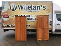 solid pine wood wardrobe £75 a piece