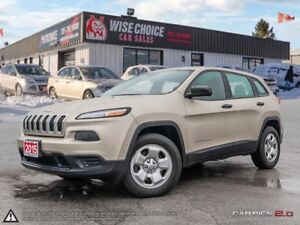 2015 Jeep Cherokee Sport,4X4,REMOTE START,HEATED SEATS+S/WHEEL,.