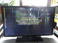 """Finlux LED Smart TV 32"""" 32FLK274SC HDMI Cracked Screen Spares Repairs with remote and stand"""