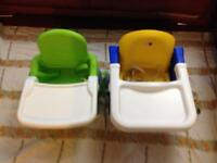 2x booster seats or baby feeding chair
