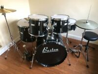 Wokingham Drum Sales - Christmas Beginners Drum Kit !!- Complete - With Silencers - All Ready to Go
