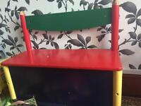 Kids bench and storage