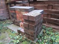 200 new (old stock) & reclaimed bricks some engineering / blue / imperial sizes