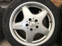 "Genuine Mercedes AMG 17"" Staggered Alloys Wheels With Tyres SL R129 CLK C208"