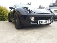 Black Roadster with nearly new 16inch Team Dynamics satin black alloys with roll back targa roof.