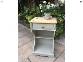 Pine Painted Bedside Or Occasional Side Table