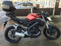 Red Yamaha MT125, '15 plate, 6300 miles