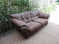 Lovely brown 3 seater sofa