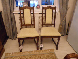 2 Old Charm Dining Chairs Light Oak Frame. New with labels still attached.