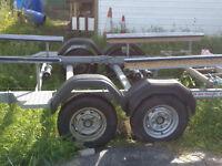 Boat trailer SBS 4 wheel ,IdeaL for River Cruiser ,Canal Boat , Freeman 22 or similar.