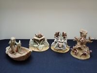 Four Handmade Figures From Lords of The Rings, Gollum, Treebeard, Gandalf & Dragon £120