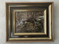 Antik Ölgemälde Öl Platte Landschaft Bild Gemälde Conrad Franz Nordrhein-Westfalen - Hagen Vorschau