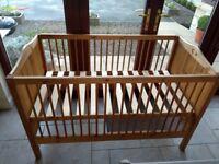 Pine child cot/junior bed - excellent condition
