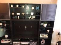 Shelving unit with storage and tv stand needs to go ASAP