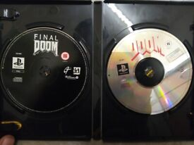 DOOM and Final DOOM PS1 Playstation 1 Disks only