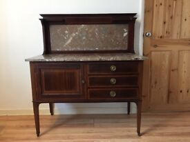 Antique Vintage Edwardian Marble Top Washstand/Dressing Table