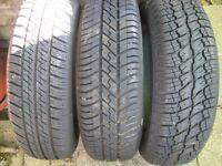 3 165 x 70 x 13 tyres £10 each