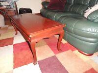 Vintage solid mahogany coffee table