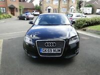 Black Audi A3 Sport 1.9 TDi 5 Door 2009