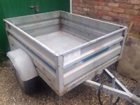 Lider Seville Galvanised Trailer with Cover.