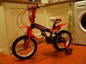 Kids/Childs Bike, 14 inch wheels, w/stabilizers VERY GOOD CONDITION