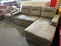 NEW - EX DISPLAY DFS CORNER SOFABED SOFA BED + SWIVLE CAHIR SOFA, SOFAS 70%Off RRP