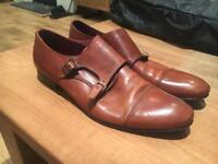 Size 11 tan leather Poste shoes