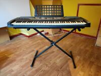 Yamaha electronic keyboard with stand, stool and user manual - great condition