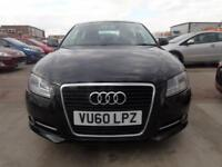 AUDI A3 2.0 TDI SPORT 3d 138 BHP FULL SERVICE DRIVES A1 **3 MONTHS WARRANTY INCLUDED** (black) 2010