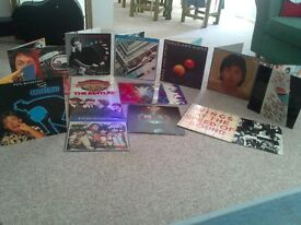 The Beatles,McCartney,Wings (Linda & Paul McCartney band) vinyl collection 13 albums and two posters