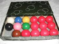 SNOOKER BALLS 1 7/8th SET ARAMITH - BOXED