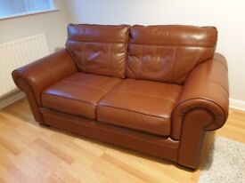 TWO SEATER SOFA - SOFT ITALIAN LEATHER - EXCELLENT CONDITION