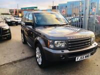 "LAND ROVER RANGE ROVER SPORT 2.7 TDV6 HSE AUTOMATIC LEATHER SATNAV DVD 20"" ALLOYS"
