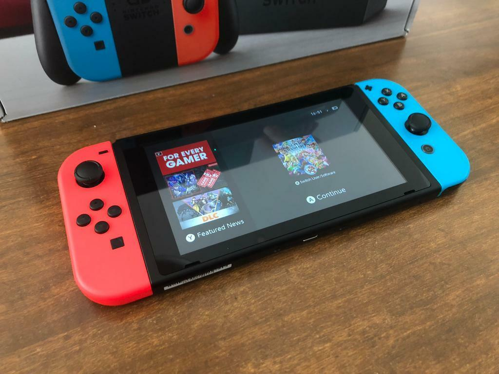 Unpatched serial Nintendo Switch Console complete very good condition,  unpatched serial number    in Cardiff Bay, Cardiff   Gumtree