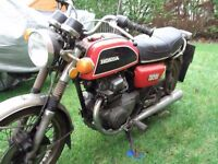 1975 tax exempt honda cb200 for complete restoration