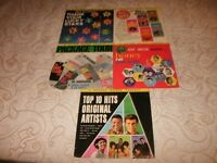 "RARE-5 X VARIOUS ""ORIGINAL"" ARTISTS VINYL LP'S."